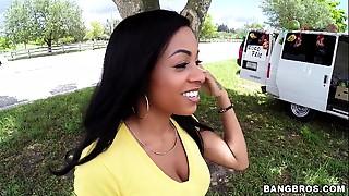 BANGBROS - Hot Lalin cutie with big milk cans