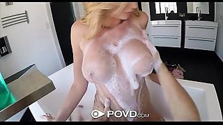 POVD - Sexy golden-haired Brett Rossi drilled in POV