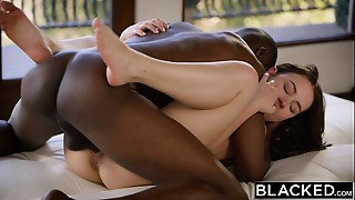 BLACKED Sexy Model Taylor Sands Takes Huge black meat