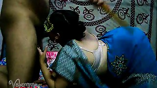 Non-professional Indian MILF Velamma Bhabhi Oral pleasure and Doggy position Sex