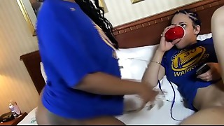 CHERISE ROZE Straps UP AND DESTROYS MS NATURAL Love tunnel