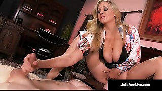 Mega Hot MILF Julia Ann Abuses Her Slave Boy!