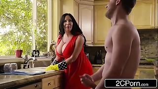 Obese Large breasted Stepmom&#039_s Cum Cleaning - Sybil Stallone