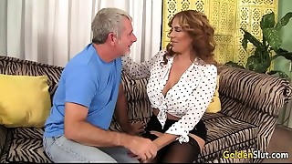 Sexy and older Nikki Ferrari drilled