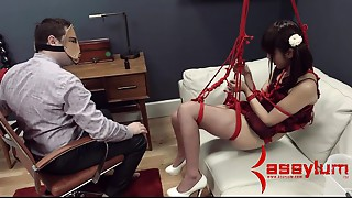 Miniature Oriental Marika Hase receives abusive ace fuck therapy