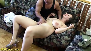 breasty german Cougar enjoys a large cock in her butt