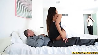 Step daddy ravaging on Katya Rodriguez bawdy cleft