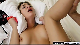 Blair wishes to eat dude booty so this babe bonks her stepdad and licks his dark hole