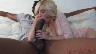 smallest babe takes 12 inch huge dark cock!
