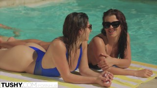 TUSHY 1st A bit of butt For Superlatively good Allies Keisha Grey and Leah Gotti
