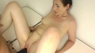Creaming wife receives a large dark strap-on bonk