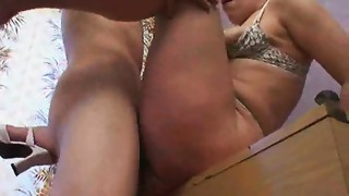 Russian aged butt slam mamma and her boy! Amateur!