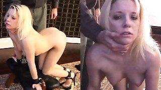 Unrepining slaves 1st training session, anal dance and fingering