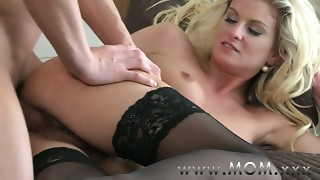 Mamma Curly MILF makes love to her stud