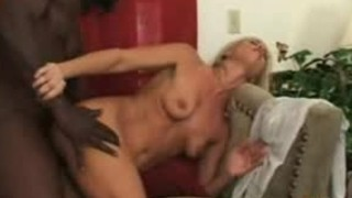 Slutty blond MILF receives an bizarre and wicked slit pounding from a dark coc