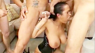 Carmella Destroyed In Group Orgy