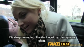 FakeTaxi Golden-haired customer enticed by taxi driver
