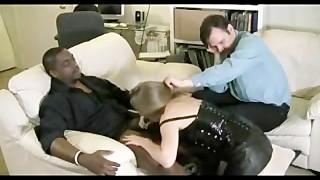 Wife Cuckolds A Huge black meat
