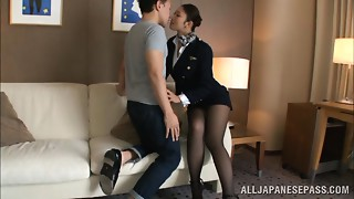 Sexy stewardess is an Exotic doll in high heels