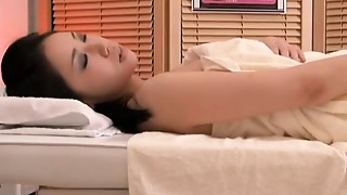 Asian doggy position and fur pie drilling in voyeur massage video