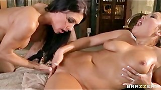 Large TIT Cougar MASSAGE TURNS INTO Constricted Sixty nine Lesbo Oriental Fur pie Take up with the tongue