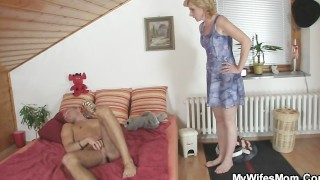 That babe rides her daughter's BF dong and receives busted