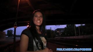 PublicAgent Breathtaking blue eyed hottie bonks outside underneath a bridge