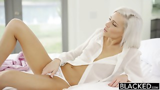 BLACKED Preppy Golden-haired Girlfriend Kacey Jordan Cheats with BB