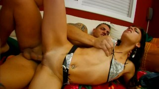 Slender French dark brown pays for lift with her dark hole