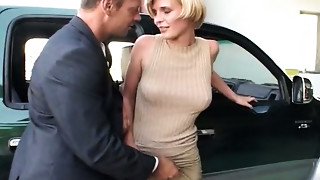 Sexually excited cum addicted light haired harlots engulf rods in helicopter base