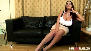 Enormous tittied harlot Emma Arse acquires her snatch licked and rammed