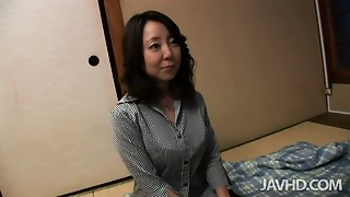 Japanese elder bitch enjoys getting pushed in traditional houses