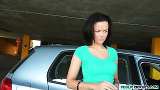 Hawt brunette hair mamma Monika receives paid for engulfing stranger's schlong