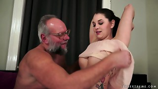 Angelina Brill is a sexy juvenile hottie who prefers bawdy sex with elder males