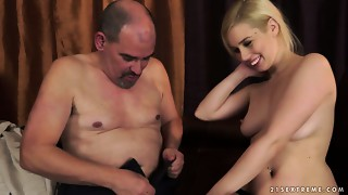 Older guy is bawdy cleft licking in a sexy aged juvenile porn episode