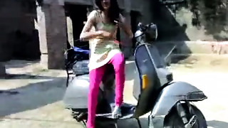 Stylish dilettante Indian GF getting her love melons kneaded