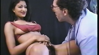 Hot  Nadia Nyce exposing her unshaved snatch