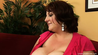 Sapphire and her saggy massive bazookas in act