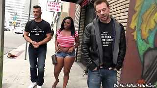 Swarthy bbw Jayden Starr is screwed hard by 2 white studs