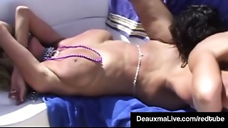 Texas Milf Deauxma &amp_ Hubby Attend Swinger Party - SEX!