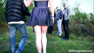 Obedient hooker girlfriend in public bang