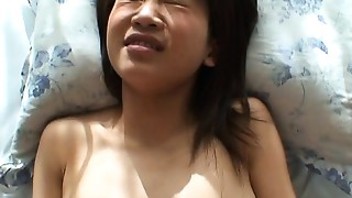 Asian whore has a bang deep in her soaked wet crack pie