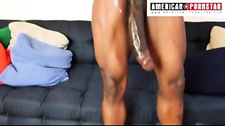 14 inch Monster Meat Julio Gomez gets his Huge pole stroked in his First porn