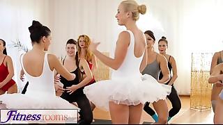Fitness Rooms Tiny ballet teachers secret three-some