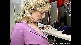 Super hot elder lady is so lascivious that babe has to masturbate