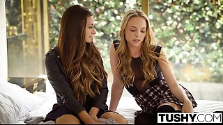 TUSHY Honeys Cassidy Klein and Aubrey Star Do Anal invasion