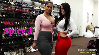BANGBROS - Behind the Scenes with Latin chick Sweethearts Spicy J and Diamond Kitty