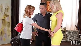 Slutty pair hires a Babysitter and Copulates her Senseless