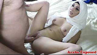 Arabian beauty screwed and jizzed in mouth