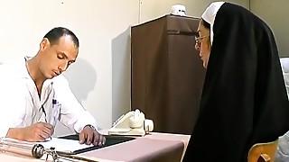 Those 2 immodest doctors stuff nun hot